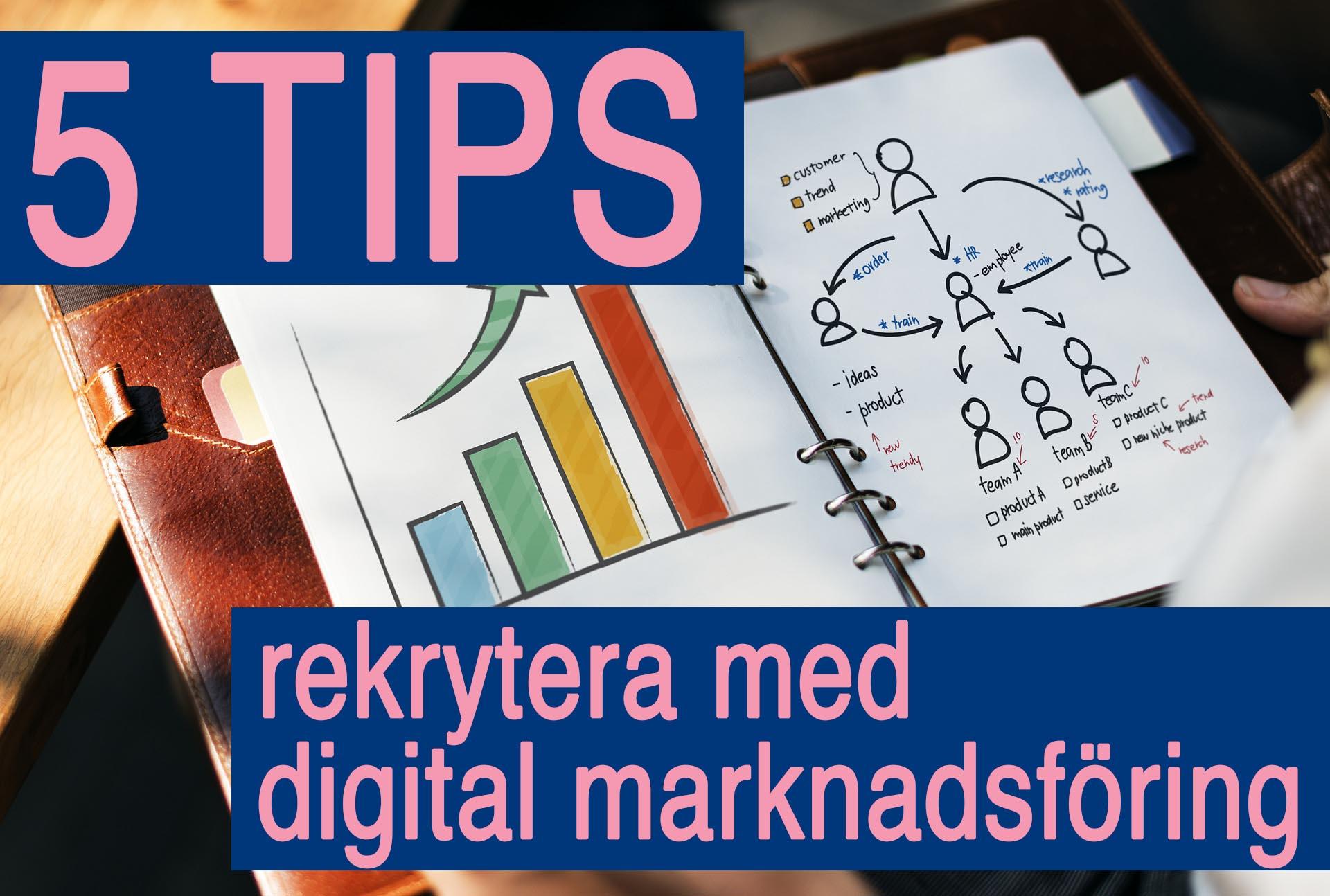 5 tips för att framgångsrikt rekrytera med digital marknadsföring