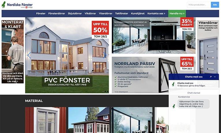 nordiska fönster webb